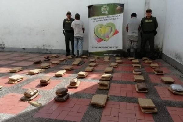 Tres indígenas del Cauca fueron detenidos con 45 Kg. de Marihuana