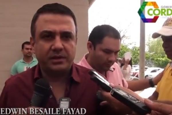 Fiscalía radica ante la Corte Suprema de Justicia acusación contra Gobernador de Córdoba, Edwin Besaile