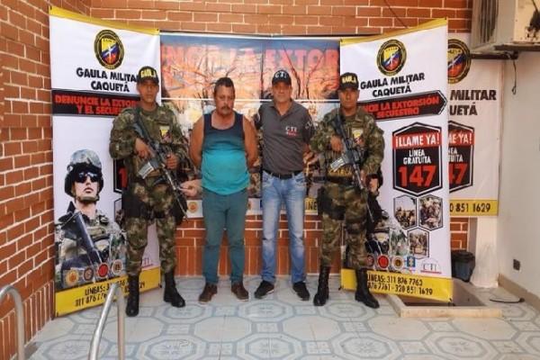 Detenido extorsionista en Caquetá