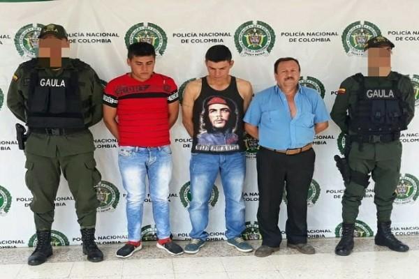 Capturados implicados en extorsión a comerciantes en el Huila