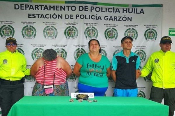 Capturada familia por tráfico de estupefacientes