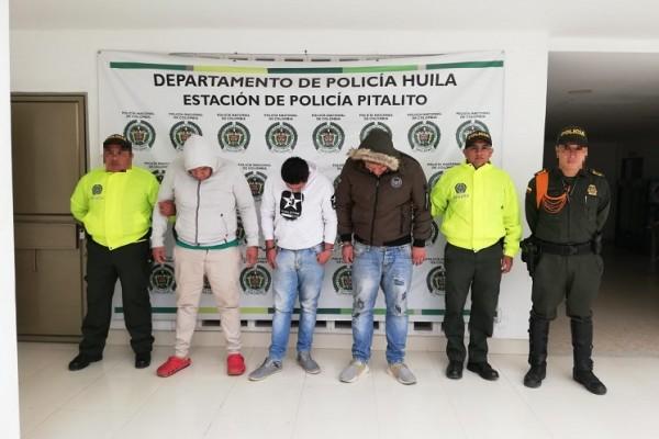 """Capturados """"Los Nissan"""", dedicados al comercio de estupefacientes en Pitalito"""