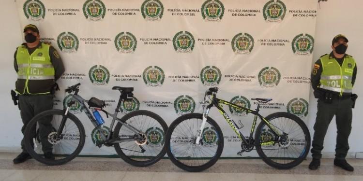 Policía recuperó bicicletas hurtadas en Neiva
