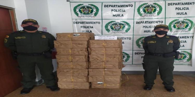 Cuatro toneladas de panela de contrabando fue incautada en Isnos