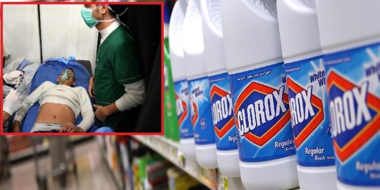 500 intoxicados, por ingerir desinfectantes para prevenir el Covid
