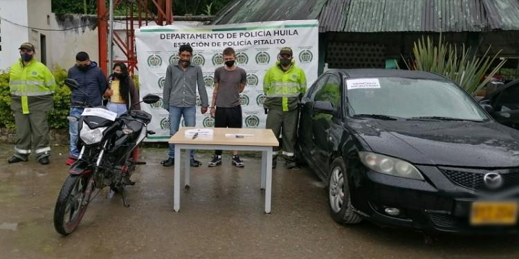 Cuatro personas fueron capturadas por el delito de hurto en Pitalito