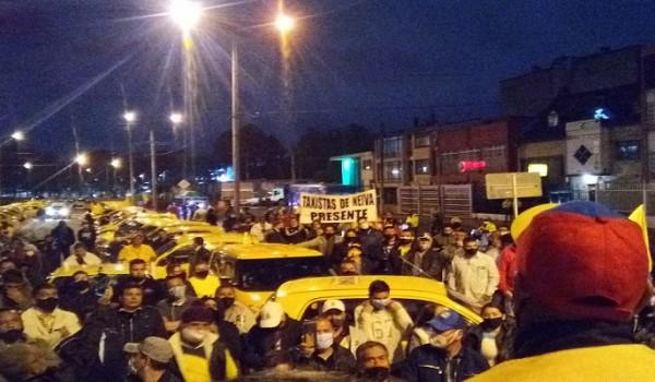 Taxistas opitas se unieron a marcha nacional