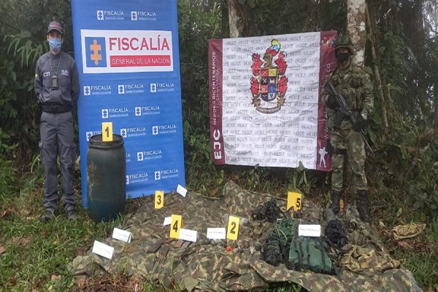 Ubicado depósito ilegal de Grupo Armado Residual en Acevedo