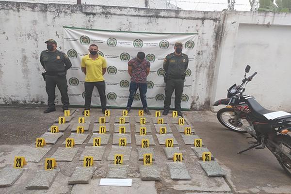 Incautados 20 kilos de marihuana con destino a Neiva