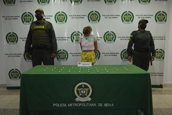 Venezolana capturada por expender estupefacientes en Neiva