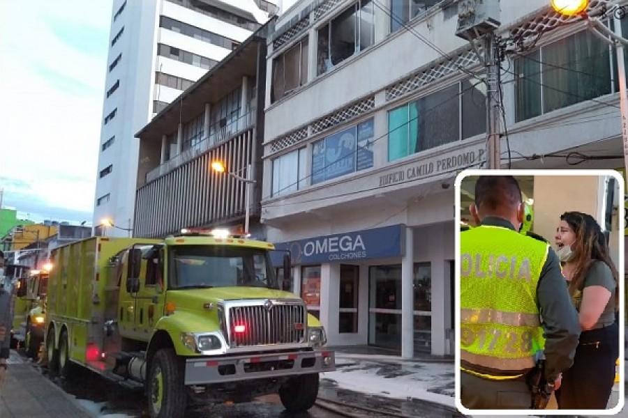 Incendio estructural en Neiva dejó una persona herida
