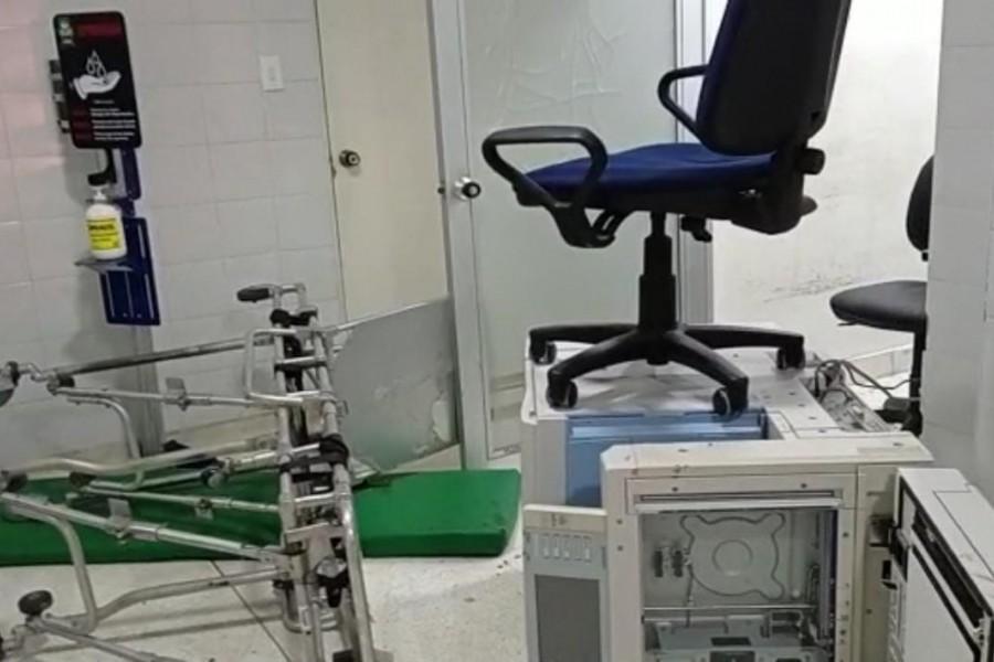 Vándalos atacaron la sala de urgencias del Hospital de Campoalegre